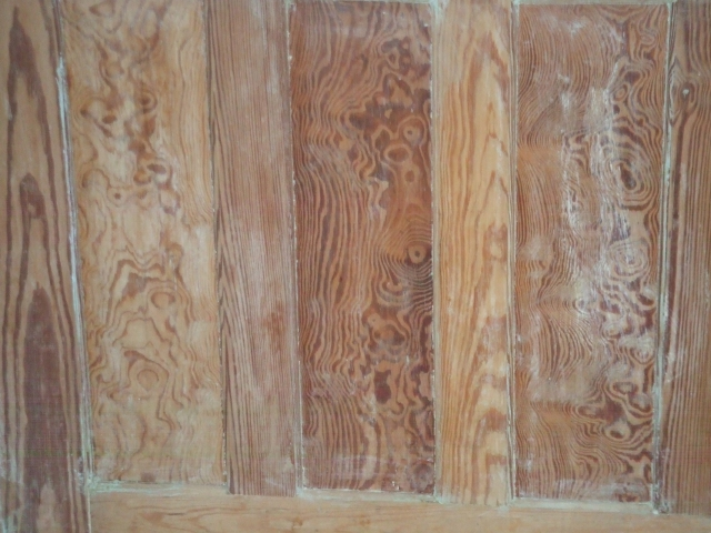 burly curly pine wainscoting