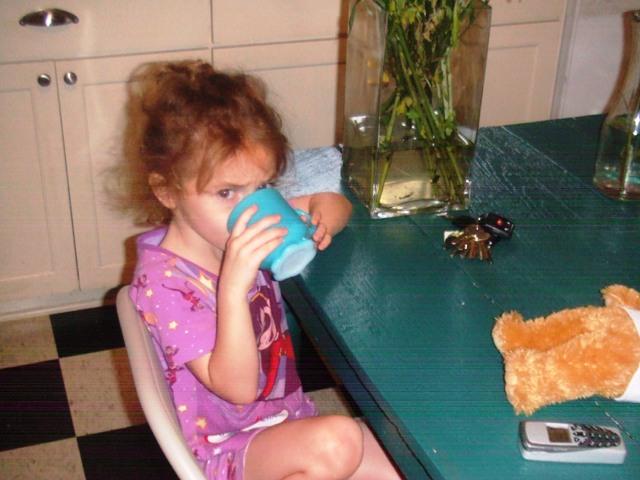 Vivian having coffee 2