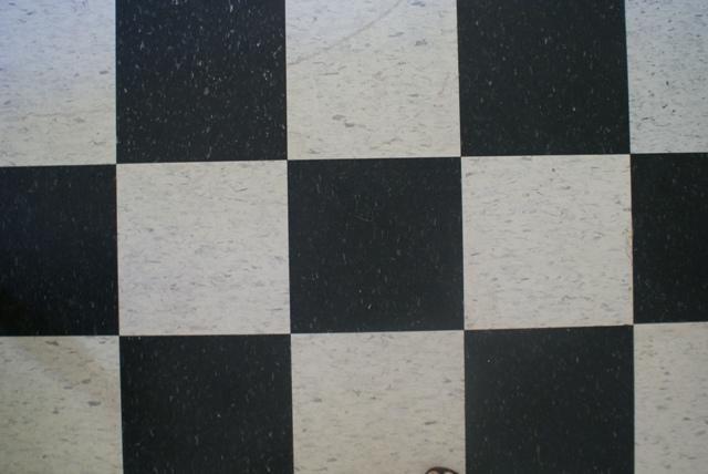 kitchen floor black and white tiles