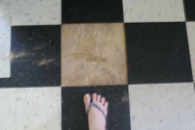 kitchen floor, puzzles?
