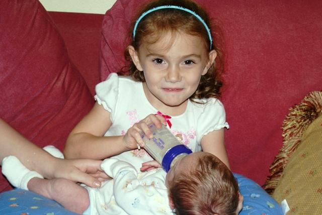 Vivian feeding Skyler