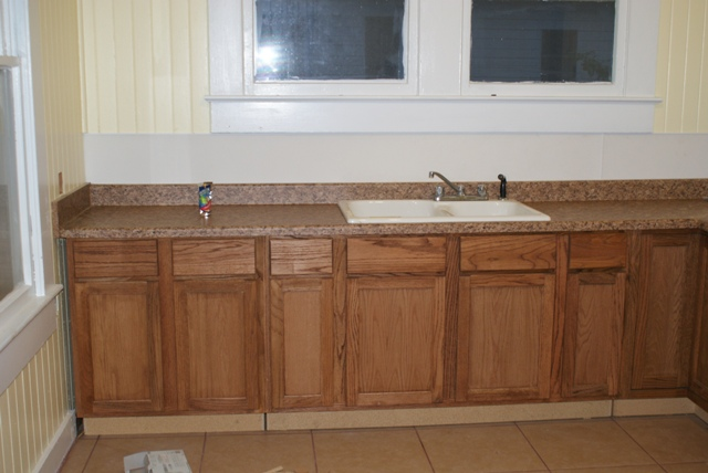countertops and sink in...need to install pulls