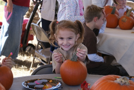 Vivian pumpkin painting